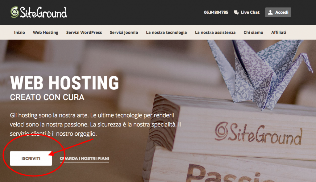 creare un blog - siteground 1