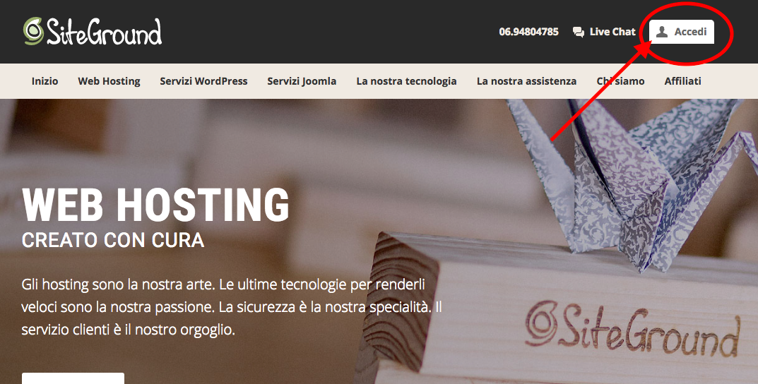 creare un blog - wordpress 1